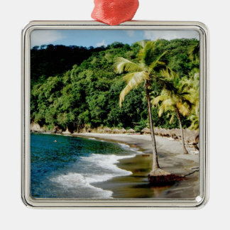 El Caribe, pocas Antillas, las Antillas, santo Adorno Navideño Cuadrado De Metal