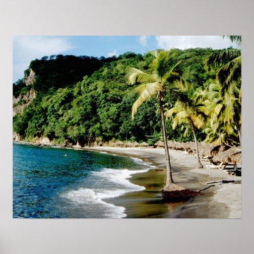 El Caribe, pocas Antillas, las Antillas, santo Poster