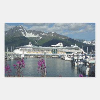 El Caribe real en Seward Alaska Pegatina Rectangular