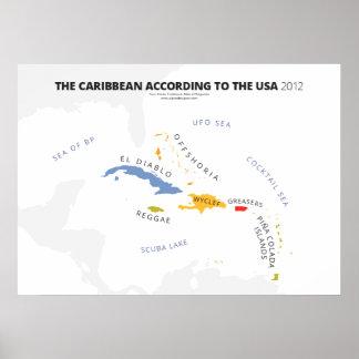 El Caribe según los E.E.U.U. Posters