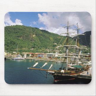 El Caribe, St Lucia, Soufriere. Barcos adentro Alfombrillas De Ratón