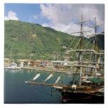 El Caribe, St Lucia, Soufriere. Barcos adentro Azulejo