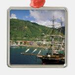 El Caribe, St Lucia, Soufriere. Barcos adentro Adorno Para Reyes