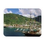 El Caribe, St Lucia, Soufriere. Barcos adentro Iman Rectangular
