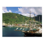El Caribe, St Lucia, Soufriere. Barcos adentro Postal