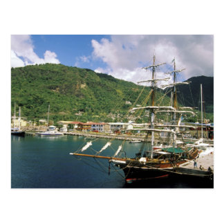 El Caribe St Lucia Soufriere Barcos adentro Postal