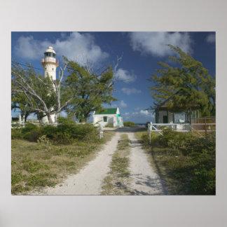 El Caribe TURCOS y CAICOS isla magnífica del tur Posters