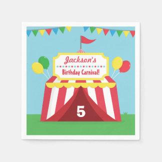 El carnaval colorido embroma fuentes de la fiesta servilleta de papel