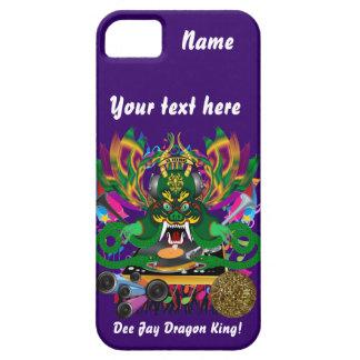 El carnaval D.J. Dragon rey visión hace alusión Funda Para iPhone 5 Barely There