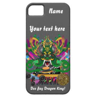 El carnaval D.J. Dragon rey visión hace alusión iPhone 5 Fundas