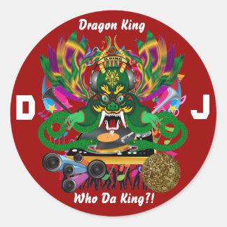 El carnaval D.J. Dragon rey visión hace alusión Etiqueta Redonda