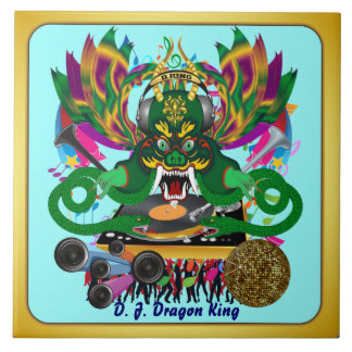 El carnaval D.J. Dragon rey visión hace alusión po Teja Ceramica