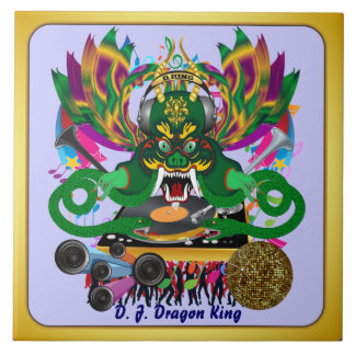 El carnaval D.J. Dragon rey visión hace alusión po Azulejo