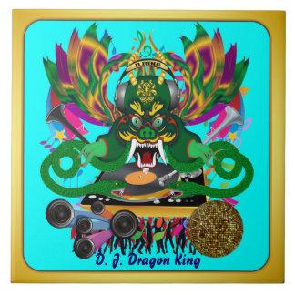 El carnaval D.J. Dragon rey visión hace alusión po Azulejo Cerámica