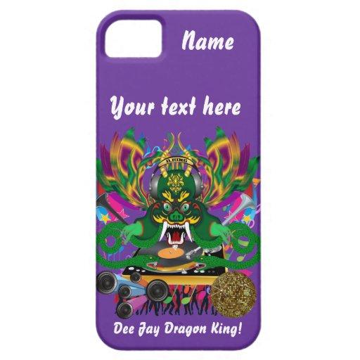 El carnaval D.J. Dragon rey visión hace alusión po iPhone 5 Case-Mate Fundas