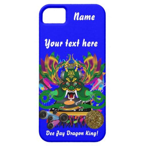 El carnaval D.J. Dragon rey visión hace alusión po iPhone 5 Case-Mate Carcasas