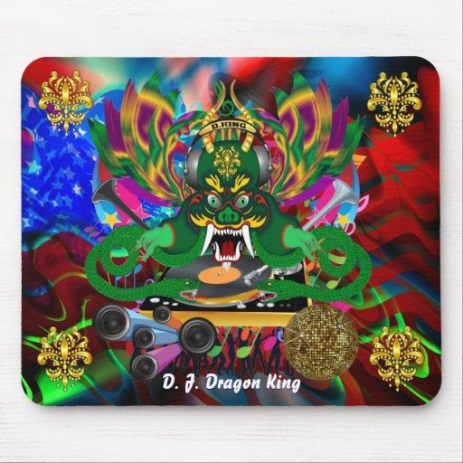 El carnaval D.J. Dragon rey visión hace alusión po Alfombrillas De Ratón