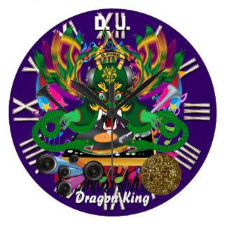 El carnaval D.J. Dragon rey visión observa por fav Reloj Redondo Grande