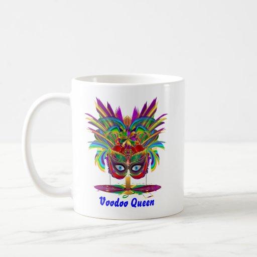 El carnaval de la reina del vudú ve por favor nota tazas de café