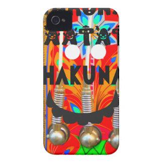 El carnaval de la samba colorea Hakuna Matata Case-Mate iPhone 4 Protectores