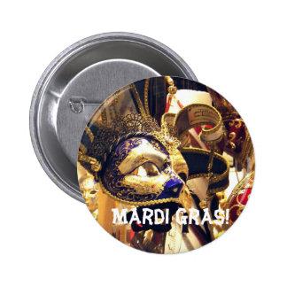 El carnaval enmascara el botón pin