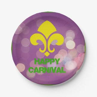 El carnaval feliz con Bokeh enciende las placas de Plato De Papel 17,78 Cm