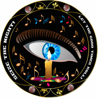 El carnaval Máscara-Agarra el perno de la noche Pin Fotoescultura