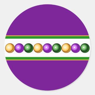 El carnaval púrpura gotea al pegatina