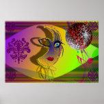 El carnaval Trompe - l ' oeil de la máscara - V-1 Poster