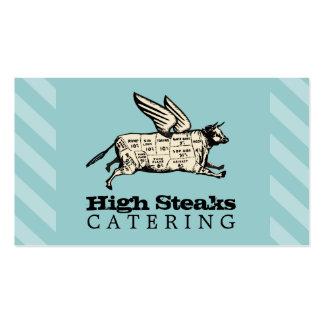 el carne de vaca de encargo del vuelo del color tarjetas de visita