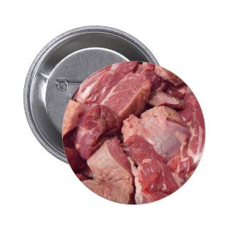 El carnicero de la carne de la tirada abotona la c pin