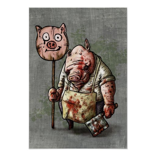 El carnicero del cerdo posters