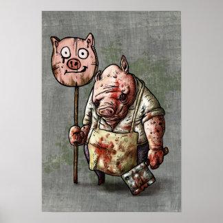 El carnicero del cerdo póster