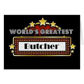 El carnicero más grande del mundo tarjeta de felicitación