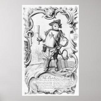 El carnicero, publicado 1746 poster