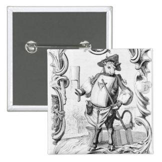 El carnicero, publicado 1746 pin cuadrada 5 cm
