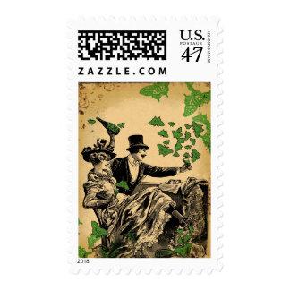 El Carousing de antaño Sello Postal
