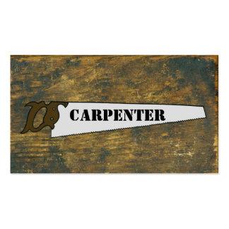 El carpintero del Handsaw del vintage vio a la Tarjetas De Visita