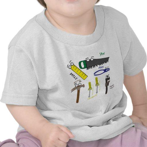 El carpintero equipa arte caprichoso del dibujo camiseta