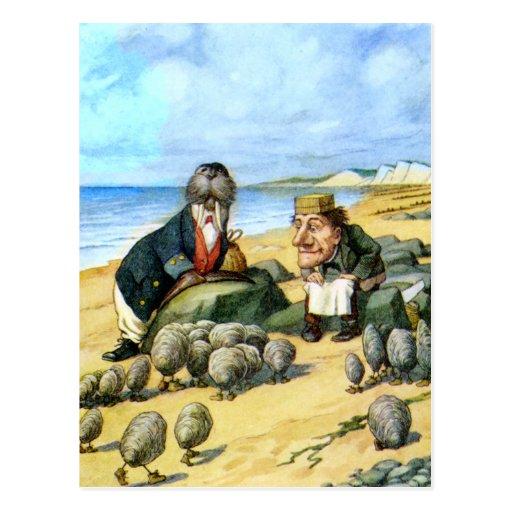 El carpintero y la morsa en el país de las tarjeta postal