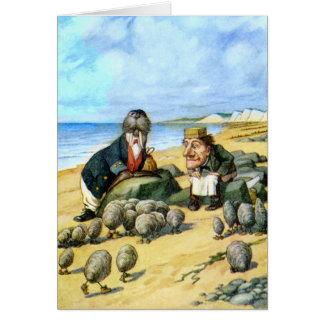 El carpintero y la morsa tarjeta de felicitación