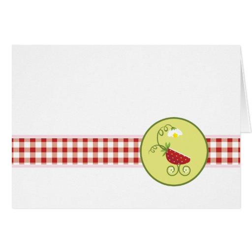 El carro de bebé de la fresa el | le agradece card tarjetas