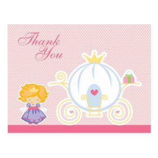 El carro de la princesa del chica lindo le agradec postal