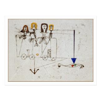 El carro de la virtud de Paul Klee Postales