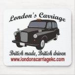 El carro de Londres Alfombrillas De Ratón