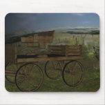 El carro del oeste viejo Mousepad de la granja Alfombrilla De Ratón