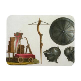El carro, la ballesta y la armadura milaneses, pla imanes rectangulares