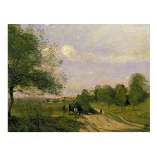 El carro, recuerdo de Saintry, 1874 Postal