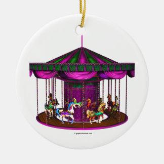 El carrusel púrpura adornos