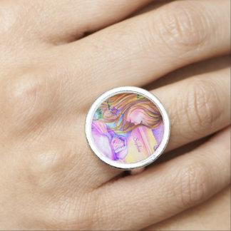 El carrusel soña el anillo redondo de plata adapta
